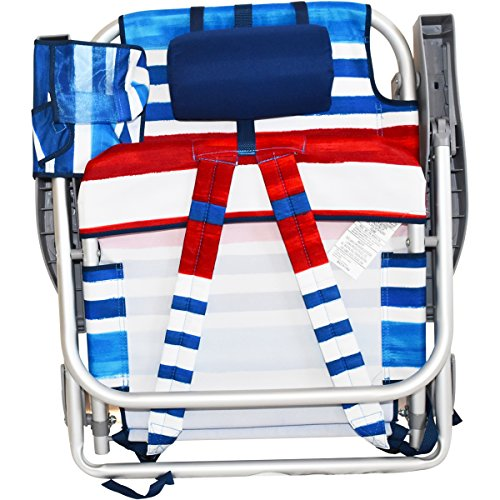 2 Tommy Bahama Backpack Beach Chairs/ Red White Blue Stripes + 1 Medium Tote Bag by Tommy Bahama Beach Gear (Image #6)