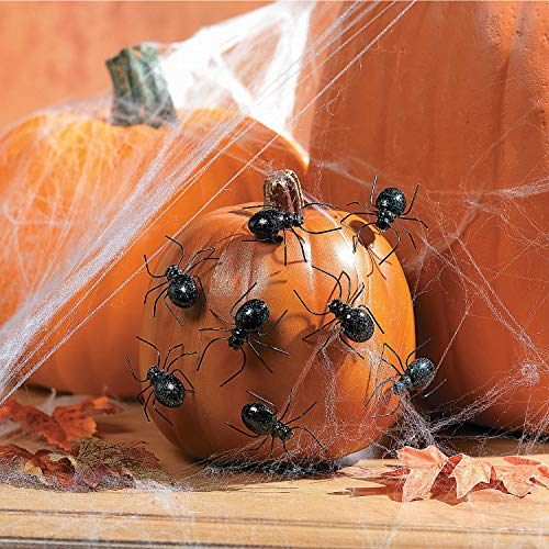 Fun Express - Spider Pumpkin Push Ins for Halloween - Home Decor - Decorative Accessories - Misc Decorative Accessories - Halloween - 12 Pieces -