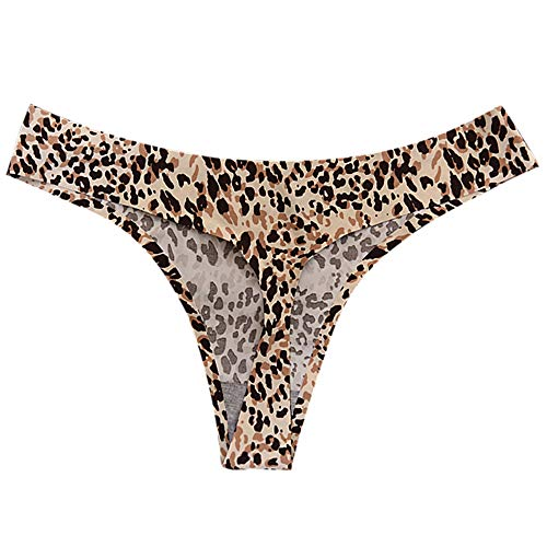 ce15eaa8a31a Lelili Women Sexy Leopard Cotton Underwear Thong Casual Comfy Underpants  Fashion G-String Yellow
