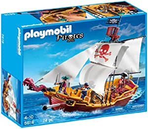 PLAYMOBIL Red Serpent Pirate Ship by Playmobil: Amazon.es: Juguetes y juegos