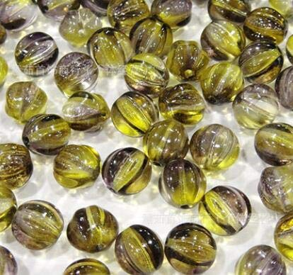 Calvas IB2334 DIY Jewelry Material Glass Beads Pearly Lustre Pumpkin Beads Czech Beads 240pieces/lot - (Color: 48008)