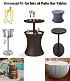Saking Patio Bar Table Cover Round Waterproof for
