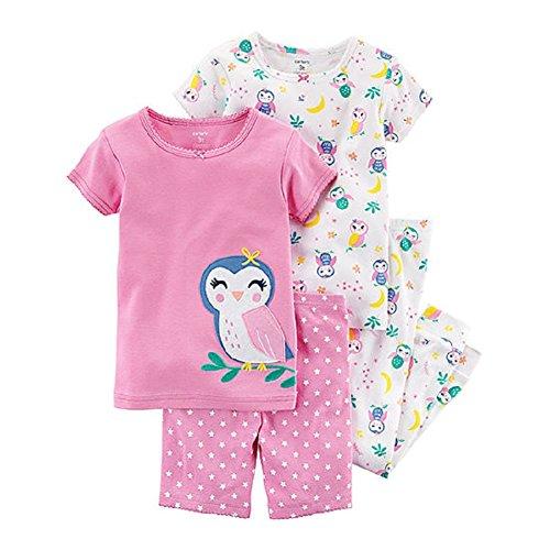 Carter's Baby Girls 4-Piece Pajamas (18 Months, Purple (Purple Girls Pajamas)