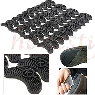 Pair Glue On Rubber Shoe Sole Heel Toe PLATES TAPS PROTECTORS DIY Repair