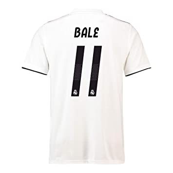 2018-19 Real Madrid Home Football Soccer T-Shirt (Gareth Bale 11 ... 7f4bcaf4e