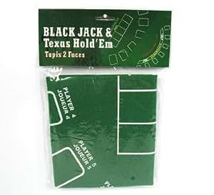 Cubra el blackjack y poker mesa de tapete verde cubre la mesa con elástico 60x90cm
