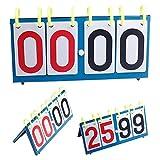 GEZICHTA 4-Digit Portable Professional Scoreboard Multi Sports Football Volleyball Basketball Badminton Table Tennis Scorecard 37x23cm