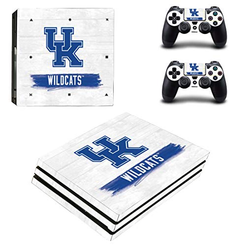 (Adventure Games PS4 PRO - UK Kentucky Wildcats - Playstation 4 Vinyl Console Skin Decal Sticker + 2 Controller Skins Set )