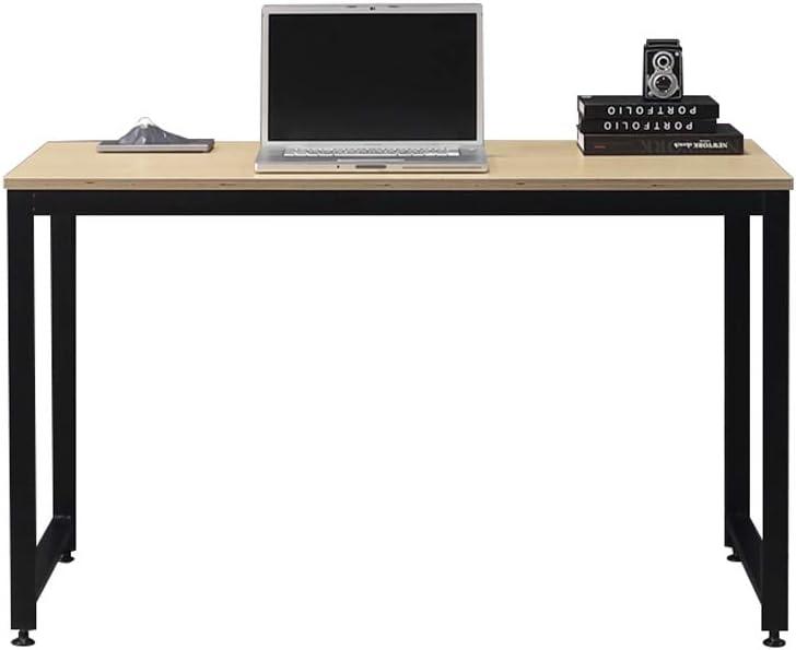 "SOFSYS 47.2"" Computer Writing Desk Workstation Table Home Office Design for Video Gaming, Designers and Entrepreneurs, Large Desktop with Sturdy Metal Frame, Oak/Black"