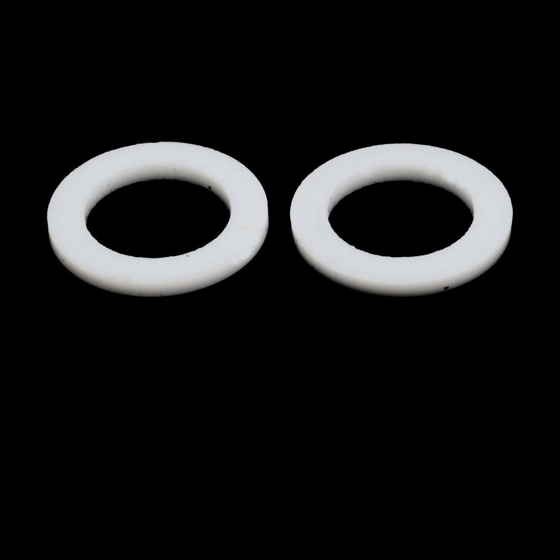 20x22mmx14mmx2mm PTFE Flache Unterlegscheibe Flansch Dichtungsring weiß