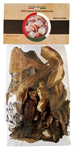 Dried Organic Porcini Mushrooms 2 Ounce