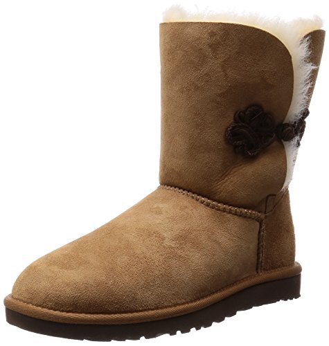 UGG Australia Women's Bailey Mariko Boot, Chestnut/Twin face, 7 B - Medium