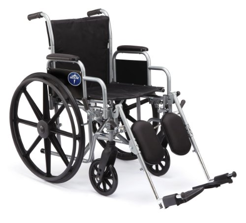 """K1 Basic Wheelchair - Medline Comfort Driven Wheelchair with Removable Desk Arms and Elevating Leg Rests, 16"""" Seat"""
