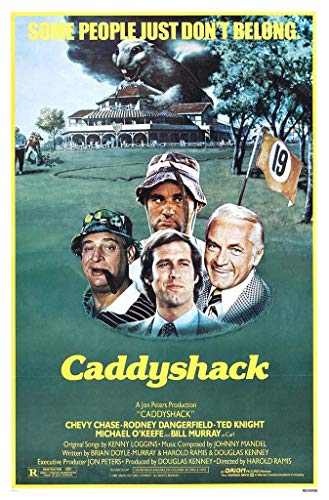 Caddyshack Movie Chevy Chase Bill Murray Group Vintage Poster Print (Caddyshack Movie Poster)