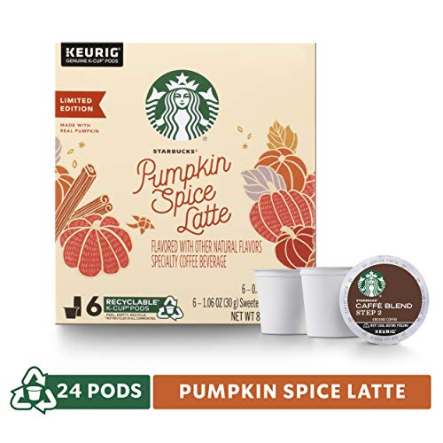 Starbucks Pumpkin Spice Caffe Latte Single-Cup Coffee for Keurig Brewers