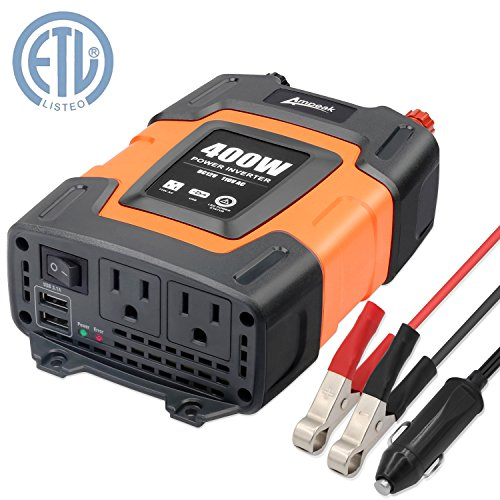 Ampeak 400W Power Inverter DC 12V to 110V AC Car Inverter with 3.1A Dual USB - Trip You Camping For Need What