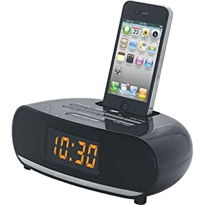 naxa pll digital alarm clock radio with dock for ipod and iphone electronics. Black Bedroom Furniture Sets. Home Design Ideas