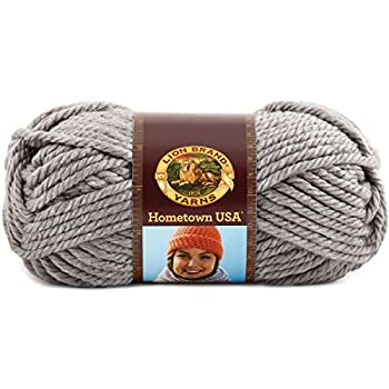 Lion Brand Yarn 135-149k Hometown Usa Yarn, Dallas Grey 0