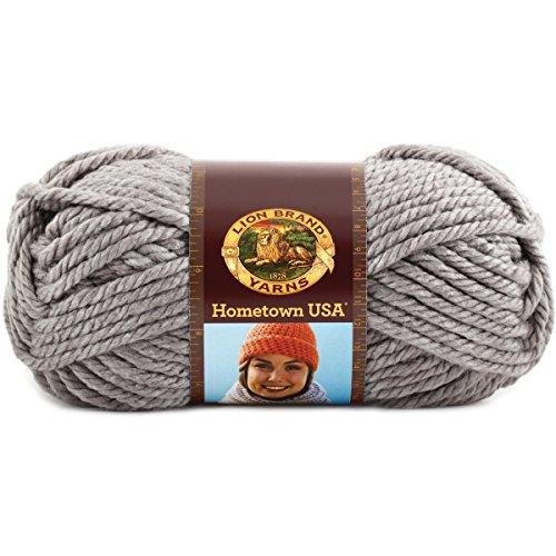 Lion Brand Yarn 135-149K Hometown USA Yarn, Dallas Grey (Home Store Dallas)