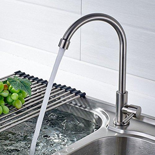 MEIBATH Wasserhahn Küche Mischbatterie Spülbecken Armatur Küchenarmatur Spültischarmatur Kaltes Wasser aus rostfreiem Stahl 304 Wasserhahn