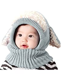 Baby Girls Boys Winter Hat Scarf Earflap Hood Scarves...