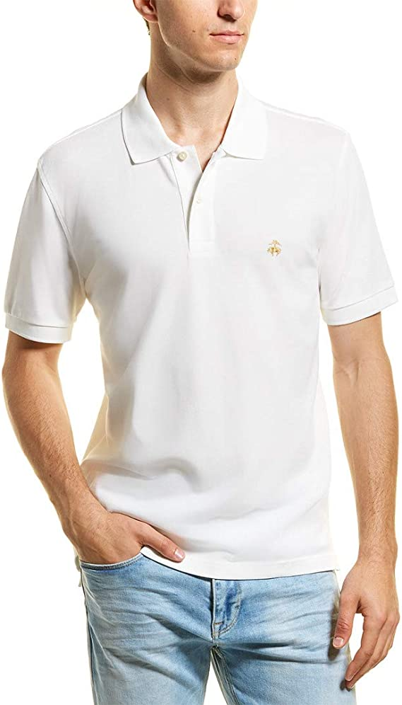 BROOKS BROTHERS Polo con Logo Oro (12406) Camisa, Blanco ...