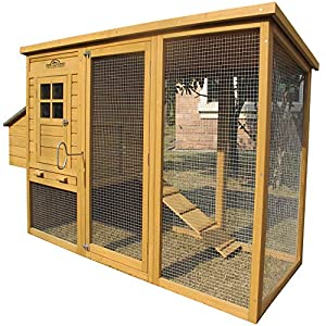 """Pets Imperial Monmouth Large Chicken Coop 6ft 7"""" in Length with Roof That Opens Suitable for Up to 4 Birds 78"""