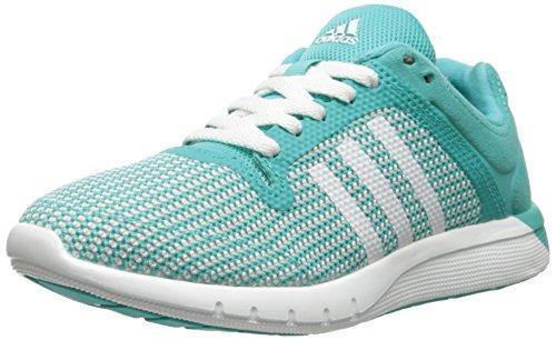 adidas Performance CC Cross Country Fresh 2 K Running Shoe (Little Kid/Big Kid), Vivid Mint/White/Grey, 13 M US Little Kid