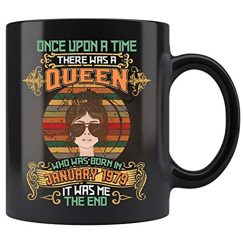 (Girls 40th Birthday Queen Was Born In January 1979 Gifts Mug Coffee Mug 11oz Gift Black Tea Cups)