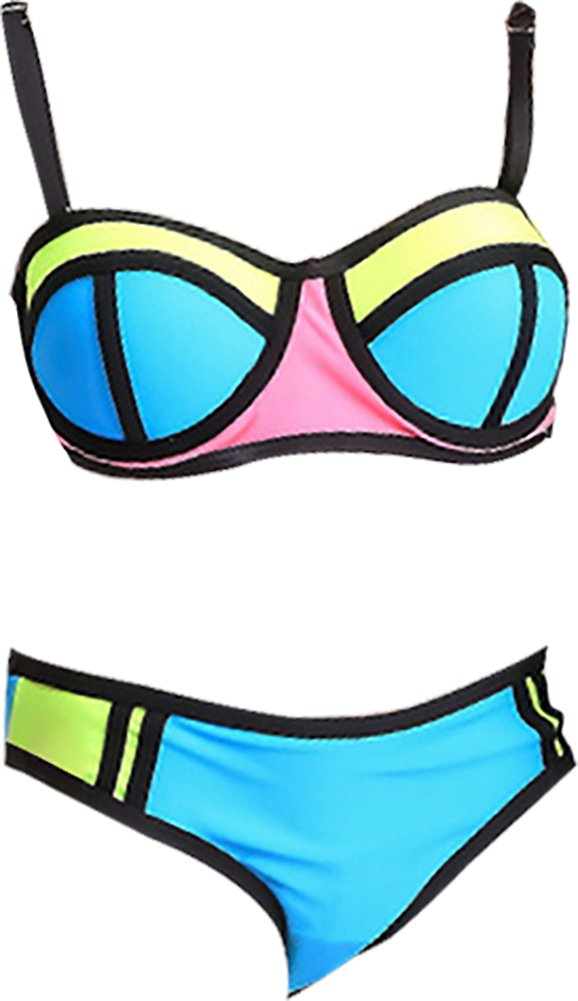 Ababalaya Big Girls Bikini 2 Pieces Swimwear Swimming Bathing Suit AB-PYS004