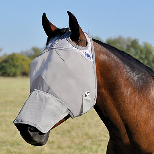 Weanling Small Pony Cashel Crusader Horse Fly Mask with Long Nose