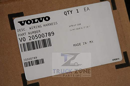 Amazon.com: Volvo Truck 20500789 VNL Headlight Wiring Harness ... on