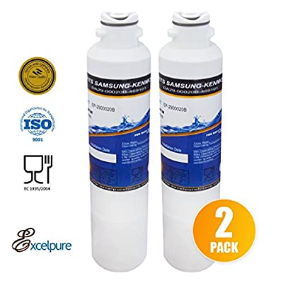 Excelpure Refrigerator Water Filter Replacement compatible with Samsung DA2900020B Kenmore Water Sentinel (2-Pack)