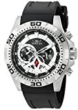 Invicta Men's 'Aviator' Swiss Quartz Stainless Steel and Polyurethane Automatic Watch, Black (Model: 21735)