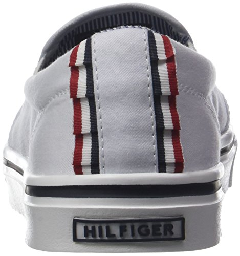 Tommy Textile Hilfiger Slip Blanc Sneakers Femme On Light white 100 Basses Weight frfxUw