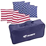 Triumph 6'' x 6'' Patriotic Stars and Stripes 16 oz. Bean Bags with Carry Pouch (8-Pack)