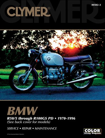 1970-1996 BMW R50/5 -R100GS PD CLYMER MANUAL BMW R50/5 -R100GS PD 70-96, Manufacturer: CLYMER, Manufacturer Part Number: M5023-AD, Stock Photo - Actual parts may vary.