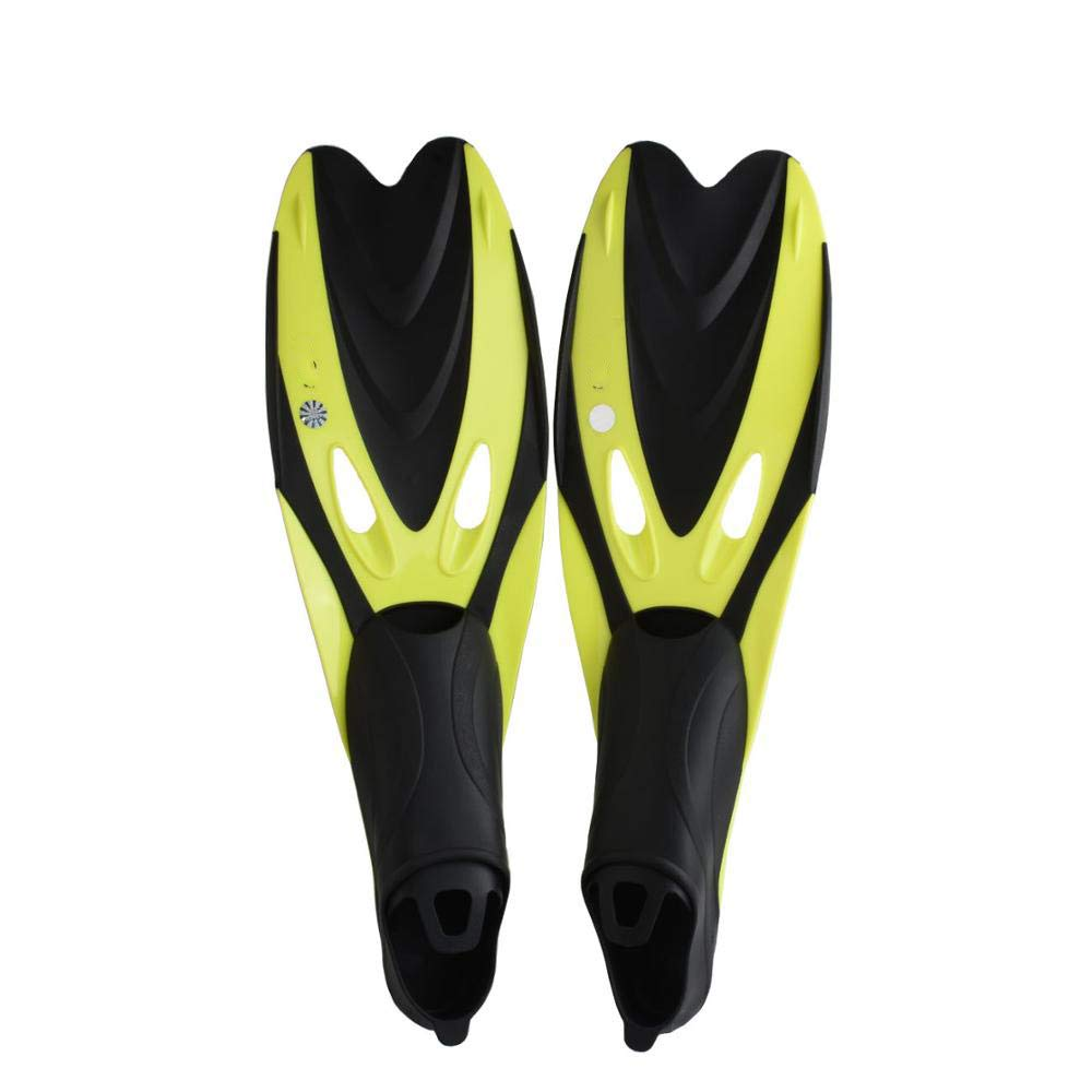 ESFSWFT Diving Fins Scuba Shoes Professional Snorkeling Feet Monofin Swimming Flippers Yellow M/L