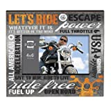 Prinz Typography Motorcycle Frame, 6 by 4-Inch