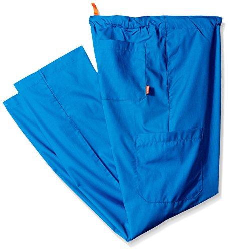 (Orange Standard Men's Big and Tall Huntington Unisex Scrub Pants with Drawstring Waist and 4 Pockets, Royal 4X/Short)