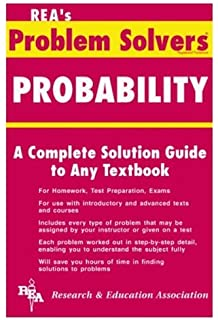 amazon com statistics problem solver problem solvers solution  probability a complete solution guide to any textbook problem solvers