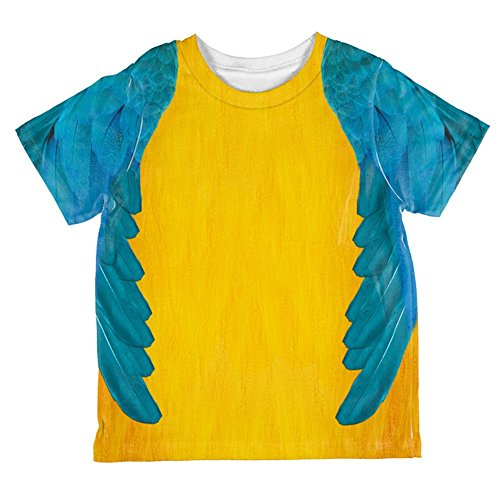 Halloween Blue & Yellow Parrot Macaw Costume All Over Toddler T Shirt Multi 2T -
