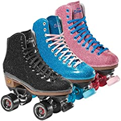 The Stardust Glitter skate is also available with Fame indorr wheels. They offer a consistant roll and are perfect for those late night skate events.