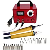 110V Multifunction Pyrography Machine Gourd Crafts Wood Burning Tool Kit Set with 20 Nib for Wood and Leather Pyrography (100