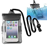Insten Universal Waterproof Bag Case Compatible with Cell Phone, Apple iPhone 5s / 5 / 4 / SE, Samsung Galaxy, LG, HTC, Huawei, BlackBerry, PDA [ Size 5 x 3 inches ] Black