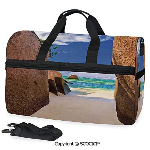 Sports Gym Duffel Bag Beach Source dArgent at Seychelles Handbag for men