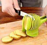 EASY MAKE - Tomato Slicer, Fruit & Vegetable Cutter and Egg Slicer - Multifunctional - Ideal for Round Slicer (Green)