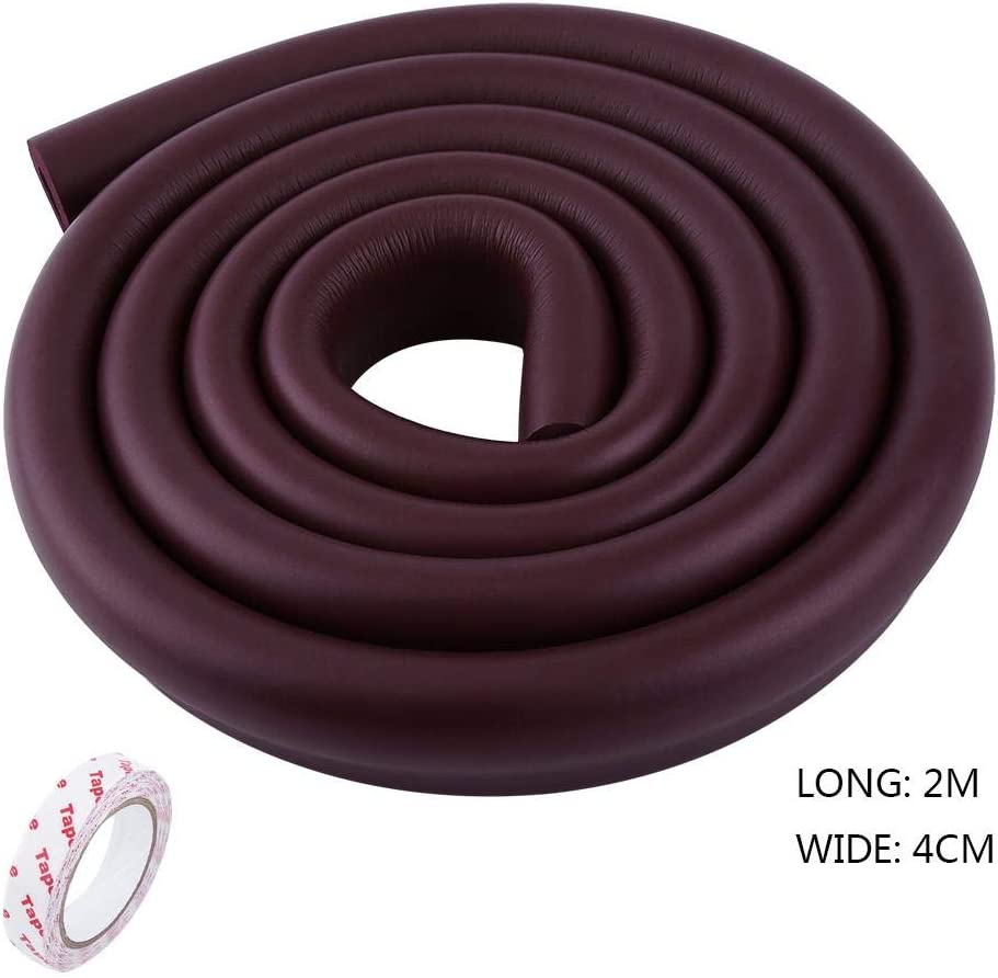 Zerodis U-Shape Baby Table Corner Guard Protector for Toddlers Kids Children Home Furniture Safety Foam Bumper Collision Cushion Strip Brown