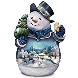 Thomas Kinkade Winter Whimsy Snowman Cookie Jar by The Bradford Exchange