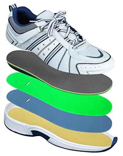 Orthofeet Monterey Bay Comfort Diabetic Wide Arthritis Orthotic Men's Sneakers Velcro White Synthetic 9.5 W US by Orthofeet (Image #1)